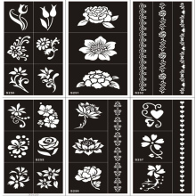 10pcs/lot Woman Female Tattoo Stencils Template,Airbrush Glitter Tattoo Stencil Flower Heart Butterfly Bracelet Small Cute Paint