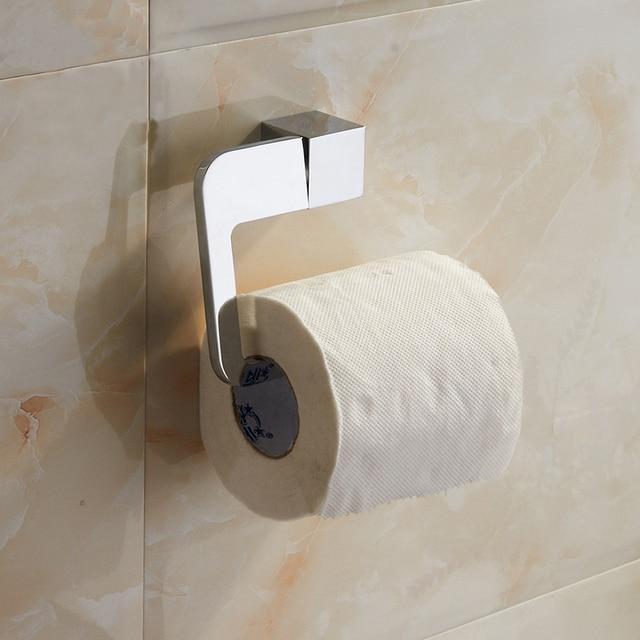 Bathroom toilet paper holder wall mounted chrome wc paper holder roll paper  racks bathroom accessories portaAliexpress com   Buy Bathroom toilet paper holder wall mounted  . Porta Bathroom Fittings. Home Design Ideas