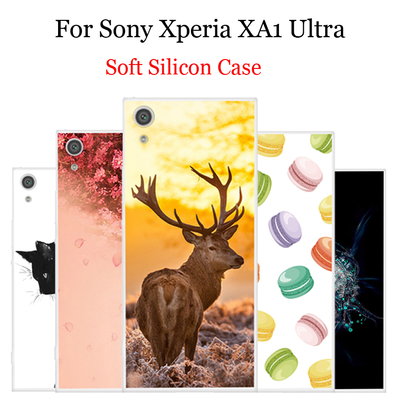 Cartoon Patterned Phone <font><b>Cases</b></font> For <font><b>Sony</b></font> <font><b>Xperia</b></font> XA1 Ultra Silicone soft back cover For <font><b>Sony</b></font> <font><b>Xperia</b></font> X <font><b>A1</b></font> Ultra Coque XperiaXA1 image