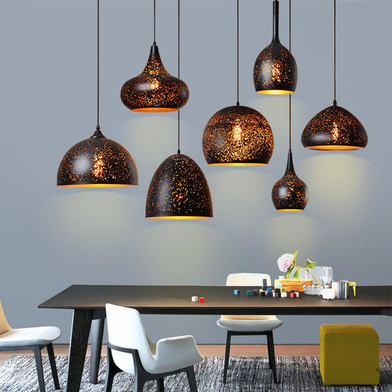 Modern LED pendant light iron Hollow out metal lamp living room bedroom shop bar contemporary lighting fixture decorationModern LED pendant light iron Hollow out metal lamp living room bedroom shop bar contemporary lighting fixture decoration
