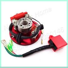 Красный гоночный статор, комплект ротора cdi для YCF Pitster Thumpstar Pit Dirty bigs 110cc 125cc мотоциклетный Cross