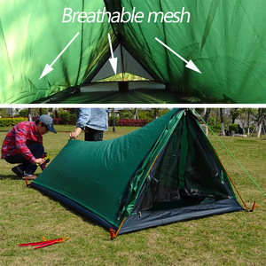 Image 4 - A Tower Outdoor Camping Tent for 1 Person Backpacking Waterproof Single Solo Bivvy Tent 20D Silicone Camp Ultralight Tent 1 Man