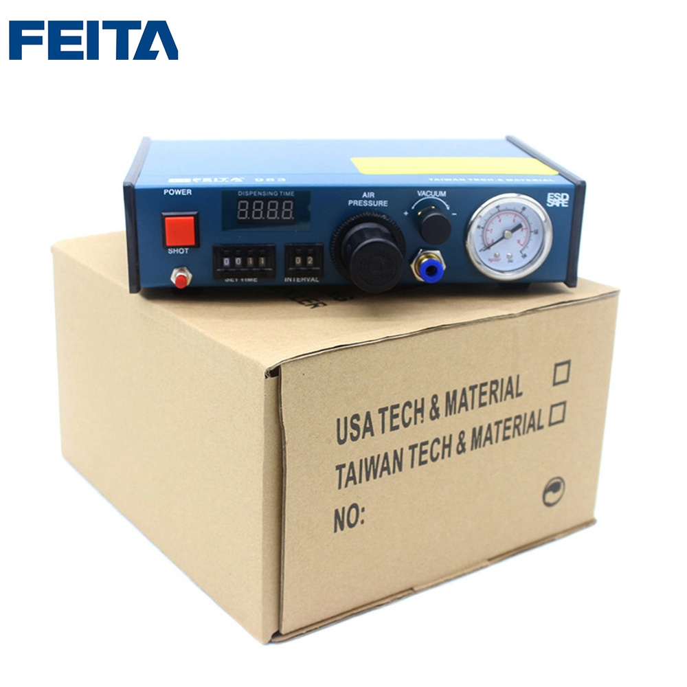 FT-983 FEITA Desktop Automatic Glue Dispensing Machine / Epoxy Resin Glue Dispenser Machine feita ft 982 semi automatic liquid glue dispensing dispenser machine with manual operation and foot pedal