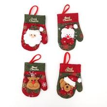 Bag Dinner-Decoration Christmas Home Tableware Cutlery-Holder Santa-Hat Reindeer New-Year