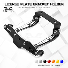 цена на Motorcycle License Plate Bracket Holder License Plate Bracket For Honda CB 599 400 CBR 600 F2 F3 F4 F4i 250 VTR 250 MSX PCX125