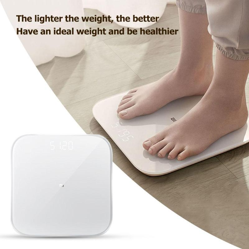 Xiaomi Digital Scale 2 Weight Scale Smart Home Bluetooth 5.0 Scale Mi Fit APP Control Precision Health Weight Scale LED Display