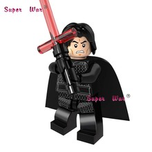 Single star wars Ewok Kylo Ren The Force Awaken super heroes marvel comics building blocks models bricks toys for children kits(China)