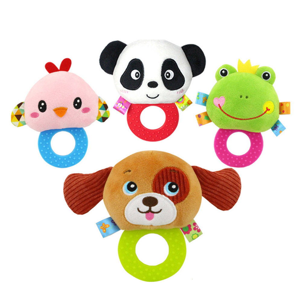 Toys & Hobbies Strong-Willed Baby Rattles Stroller Soft Toy Cute Animal Dol Rotate Beads Doll Cartoon Animal Toy Hand Bell Plush Comfort Bed Bell For Baby