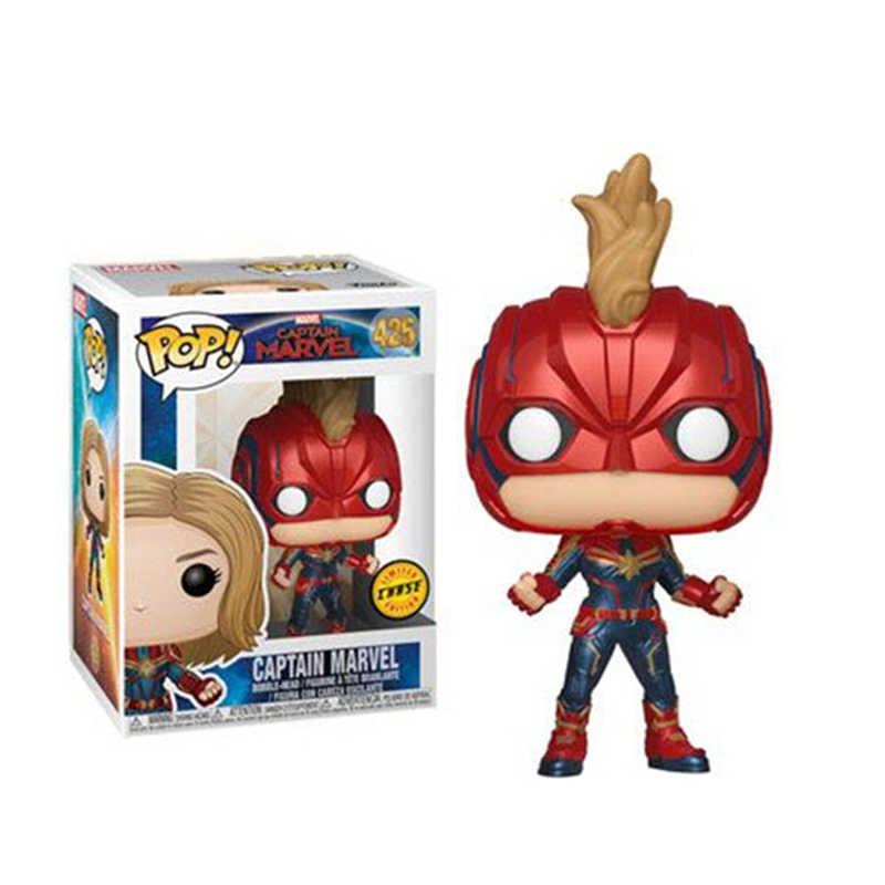FUNKO поп новый Фильм Мстители 4: Endgame Marvel Капитан и Супергерл ПВХ фигурку Коллекция Модель игрушечные лошадки для детский подарок