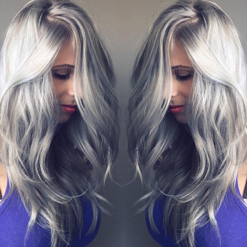 Silver Hair Color Brazilian Hair Weave Bundles Body Wave Grey Hair