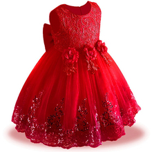 Todder Kids Bridesmaid Wedding Flower Girls Dress Baby  Lace Sequins Princess Dress Girls Party Dresses for 3 5 6 8 10 12 Years цены онлайн
