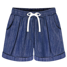 NiceMix Women Shorts Plus Size M-6XL Summer 2019 Fashion Baggy Wide Leg Loose Feminino Cotton Casual Short Pants High Qua