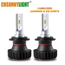 CNSUNNYLIGHT Mini LED H11 H7 H1 with Lumileds Led Car Headlight H4 Bulbs 12000LM 72W set