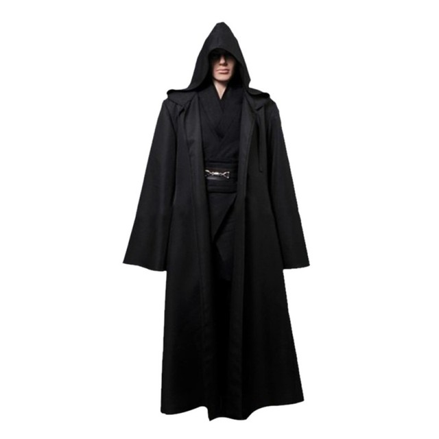Adult Men Halloween Jedi Cloak Cosplay Hooded Robe Cloak Cape Halloween Costumes