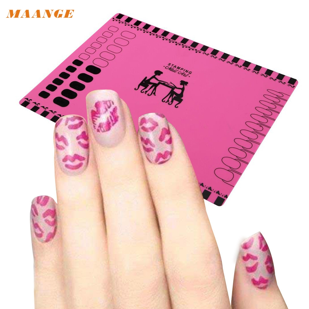 Silicone Workspace Stamping Plate Washable Mat Table Transfer Tools For Nail Art G6830