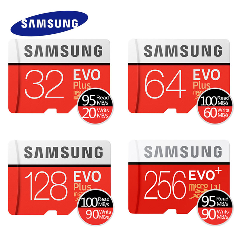 SAMSUNG EVO Micro SD 32GB SDHC 95mb/s Grade Class10 Memory Card C10 UHS-I TF/SD Cards Trans Flash SDXC 64GB 128GB free shipping