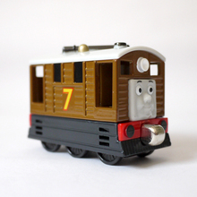 T0133 Toys gift Diecasts Vehicles Thomas Toby Thomas And Friends Magnetic Truck Car Locomotive Railway Train For Boys children