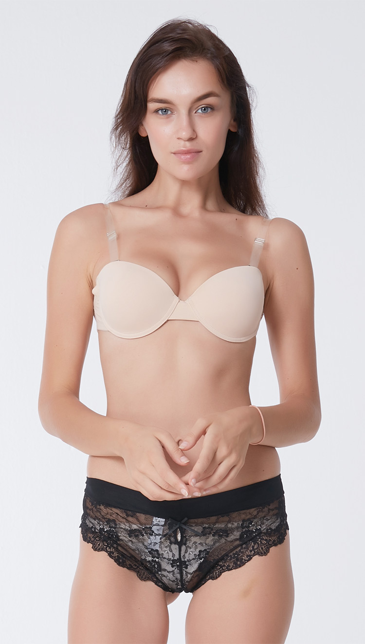 0369e3c5b0278 Invisible Push Strapless Bra Seamless Convertible Transparent Back Straps  Backless Bras Seamless Underwire