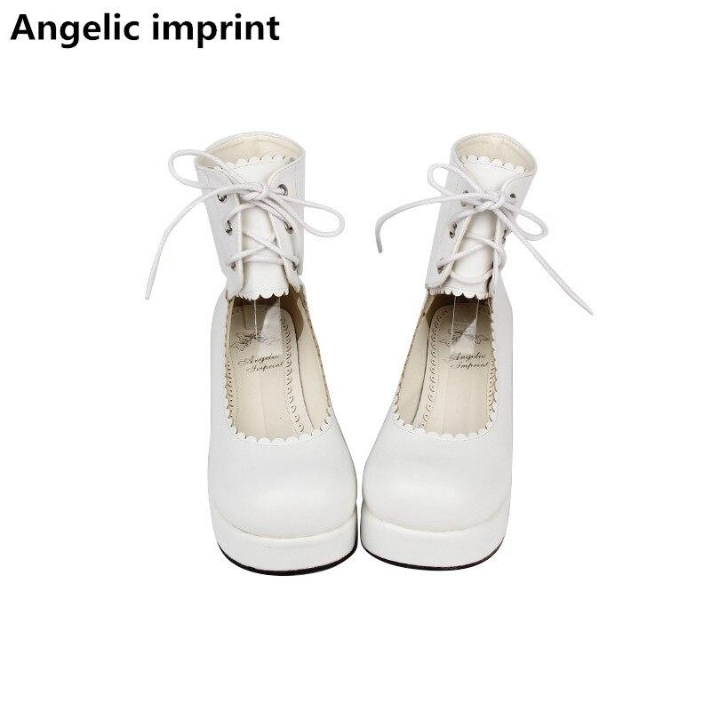 Légales Mi Pompes 5 Cosplay Femme 33 Angéliques Fille Blanc Cm Robe White Pur Talons Mori Lolita 47 Femmes Princesse Dame Mentions Chaussures 4TxTgzwW5q