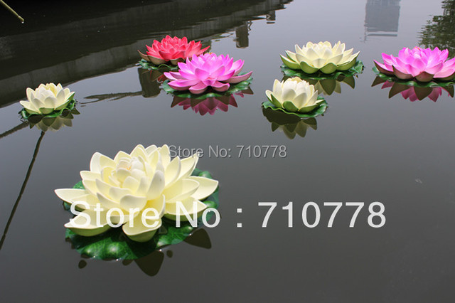 4colors available dia19cm75 large artificial lotus flower water 4colors available dia19cm75 large artificial lotus flower water lily water fish tank features mightylinksfo
