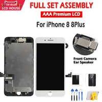 AAA Vollversammlung LCD Display Für iPhone 8G 8 Plus LCD Touch Screen Ersatz Objektiv Front Pantalla Montage Mit vorne kamera