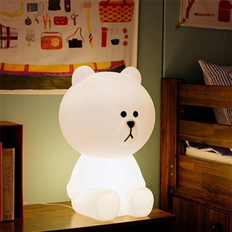 Trecaan 30CM Dimmable Cute Bear Led Night Light Baby Feeding Night Light Carton Desk Table Lamps Childrens Toy Gift Light