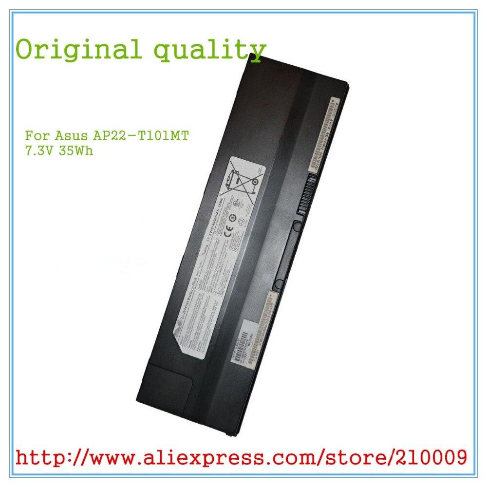 Original AP22-T101MT Battery for  T101 T101MT Laptop 7.3V 35Wh 7 3v 4900mah japanese cell new laptop battery for asus eee pc t101mt ap22 t101mt 90 0a1q2b1000q 90 oa1q2b1000q