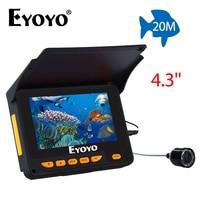Eyoyo 20M HD 1000TVL Underwater Ice Fishing Camera Video Fish Finder 4 3 LCD 8pcs IR