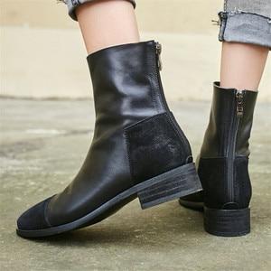 Image 5 - FEDONAS Fashion Women High Heeled Pumps Back Zipper Autumn Winter Warm Short Ankle Boots Female Casual Night Club Shoes Woman