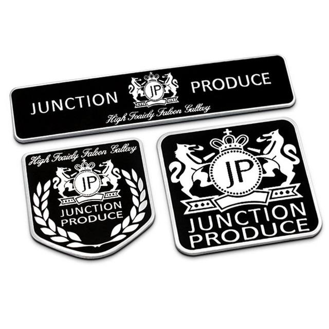 Junction Menghasilkan Jp Hitam Tipis Aluminium Gambar Styling Mobil Emblem