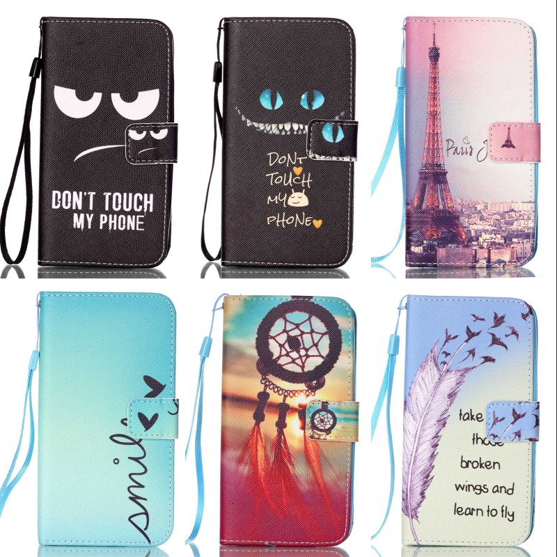 ZEALLION Für <font><b>Samsung</b></font> Galaxy S3 S4 <font><b>S5</b></font> mini S6 rand Fall Cartoon-Design Magnetic Holster Flip Pu-leder Abdeckung image