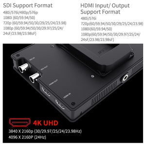 "Image 4 - Feelworld FW703 7 인치 3G SDI 4K HDMI 모니터 7 ""IPS 1920x1200 히스토그램 피어싱 포커스 얼룩말이 장착 된 풀 HD 카메라 필드 모니터"
