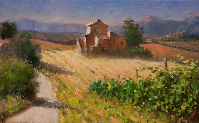 100% Hand Painted Canvas Wall Art Decor Tuscany Italy