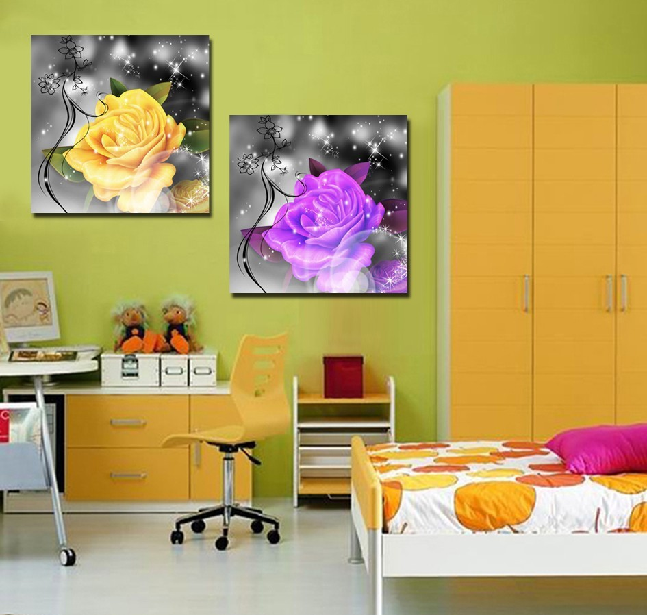 ᐅ2017 Direct Selling Sale 4pieces Modern Home Decor Wall Art ...