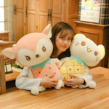 цена New 1pc 23-50cm Kawaii Fruit Cat & Deer Plush Toys Stuffed Cute Animal Doll for Kids Baby Soft Cartoon Pillows Christmas Gift онлайн в 2017 году