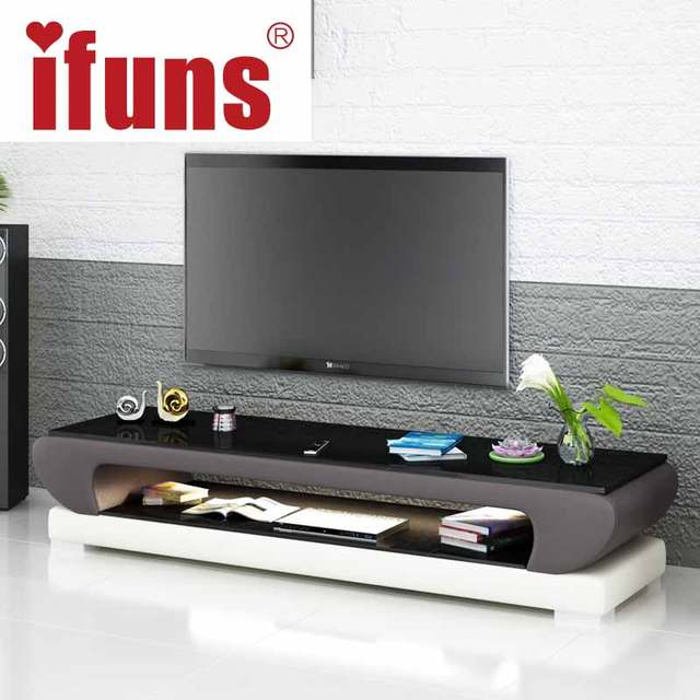 Tv Dvd Meubel.Ifuns New Design Modern White Black Brown Leather Tv Stand Tv