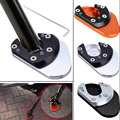 "3.3""*2.2"" CNC Kickstand Side Stand Sidestand Extension Plate Pad Fit For KTM 125 / 200 / 390 Duke 690 950 990 Motorbike Frames"