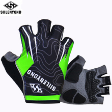 Siilenyond Hexagon 3D GEL Shockproof Sport Cycling Gloves Half Finger Mountain Bike Gloves Cycling Gloves Riding