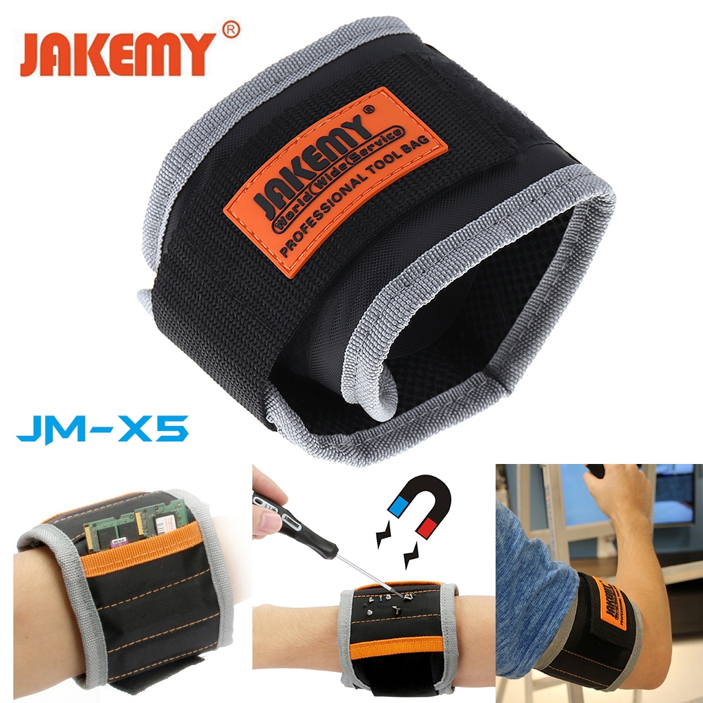 Trend Mark Cloth Polyester Magnetic Wristband Repair Tool Portable Tool Bag Hand Bracelet Screws Drill Holder Holding Outdoor Tools Pottery & Glass