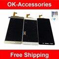Negro blanco del color del oro para huawei honor 7 lcd display + touch screen digitalizador asamblea con herramientas 1 pc/lot pieza de recambio
