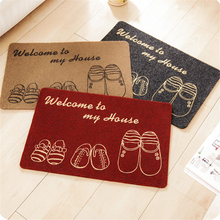 High-end Japanese-style entrance to the house mat room living room kitchen non-slip rubbing earth mat cartoon bedroom door mat