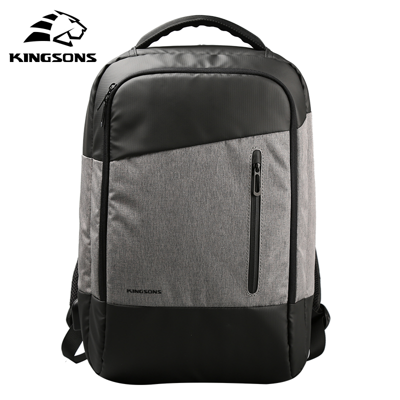KINGSONS USB Port Waterproof Laptop Backpack for 15.6 Inch Computer Bag with Phone Sucker Travel Business Mochila Packsack 2017