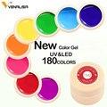 180 Color Venalisa profesional diseño de Arte de uñas 5 ml UV LED de pintura de tinta Gel UV Gel de Color esmalte de uñas laca barniz