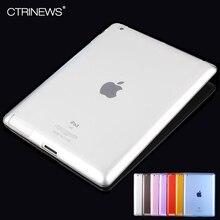 CTRINEWS Para iPad 4 3 2 Caso ultrafino Soft TPU de Silicona Protectora Caso de la piel para Apple iPad 2/3/4 Cubierta de TPU Clara Transparente