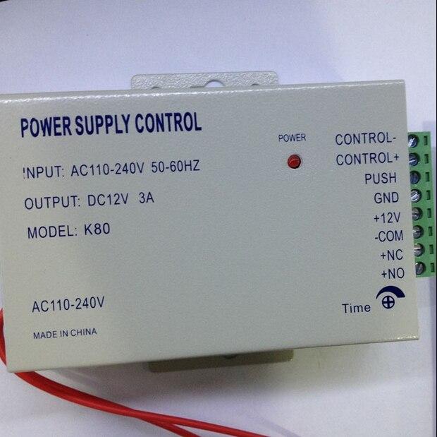imágenes para Envío gratis DC 12 V Nueva Puerta de Control de Acceso sistema de Alimentación del Interruptor 3A/AC 110 ~ 240 V envío gratis envío gratis