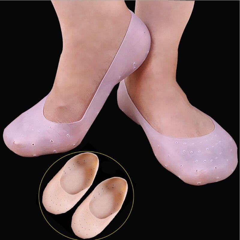 Remove Feet Calluses Heal Rift Orthopedic Pedicure Care Silicone Whitening Moisturizing GEL Scoks Prevent Foot Heel Carck Shoe