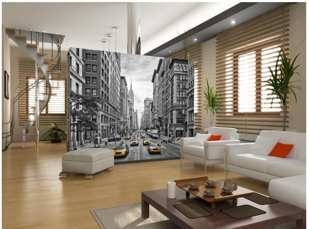 Custom 3d photo wallpaper 3d wall mural wallpaper modern for Wallpaper home improvement questions