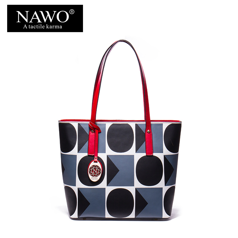 NAWO Ladies Handbag Split Leather Women Bag Famous Brand Designer Top-handle Bag Female Shoulder Bag Causal Tote Bag Sac A Main luxury handbags women bags designer brand famous scrub ladies shoulder bag velvet bag female 2017 sac a main tote