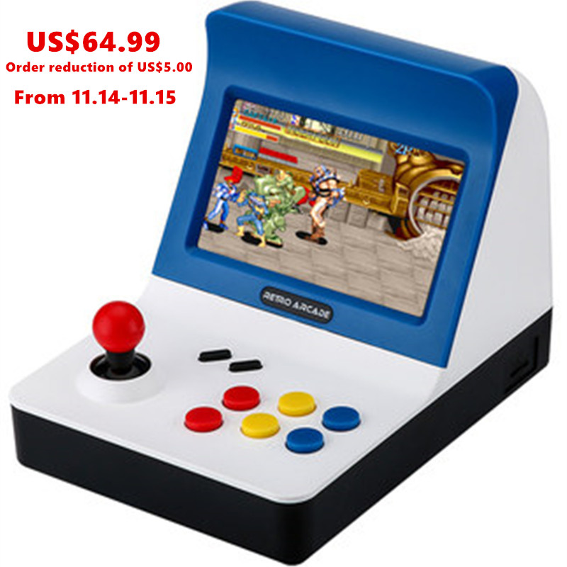 Retro ARCADE Mini Video Game Console 4.3 Inch Built In 3000 Games Handheld Game Console Family Kid Gift Toy For Christmas Gift retro arcade video game console 16gb memory 4 3 portable handheld game player with built in 3000 classic games tv game arcade