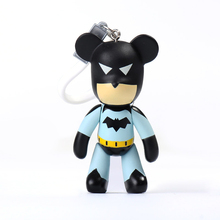 Fashion New Brand Bear Keychain Violence Gloomy Bear Keyring For Women Bag Car Key Chain Trinket Jewelry Gifts Souvenirs Llavero fashion new brand leather superhero gloomy bear keychain keyring for women bag car key chain trinket jewelry gift souvenirs